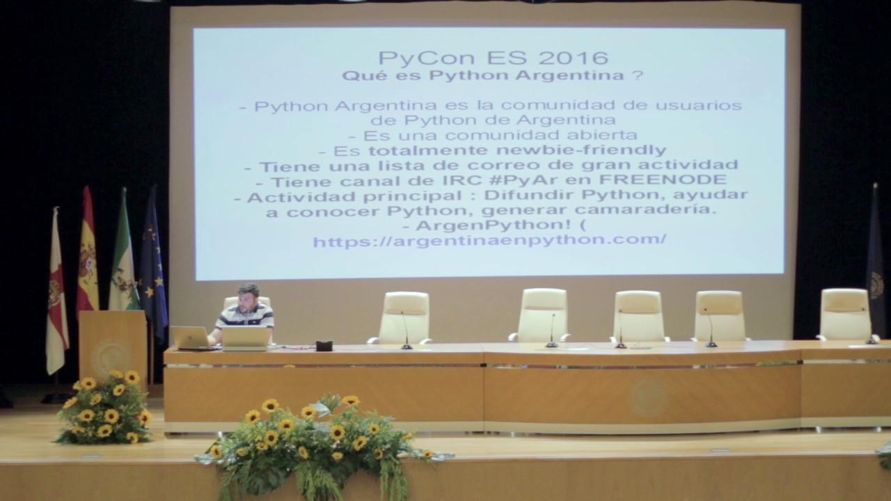 Image from Mi experiencia organizando eventos Python usando Python!