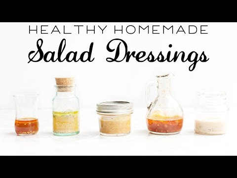 5 HEALTHY Salad Dressing Recipes // Quick & Easy Recipes