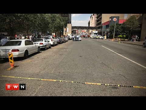 Cash in transit heist in the Johannesburg CBD