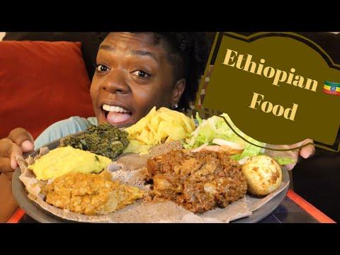 First Time Trying Ethiopian Food 🇪🇹 Mukbang 먹방 | Injera + Doro Wet + Beyaynetu