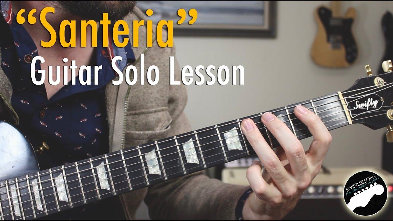 Sublime Santeria Guitar Solo Lesson YouTube - Musical history guitar solo