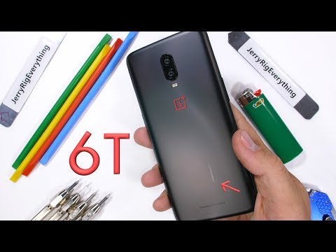 OnePlus 6T Durability Test! - Scratch Burn and BEND Tested!