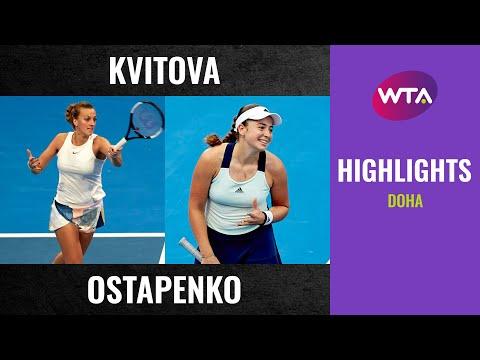 WTA Doha round 3 | Petra Kvitova vs. Jelena Ostapenko | Highlights