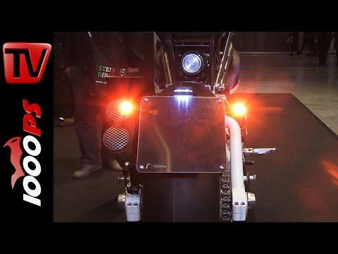 Rizoma Prototyp mit Club S Blinker + Bremslicht in einem