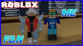PLAYING WITH MY BIGGEST FAN! (Roblox Flood Escape 2)