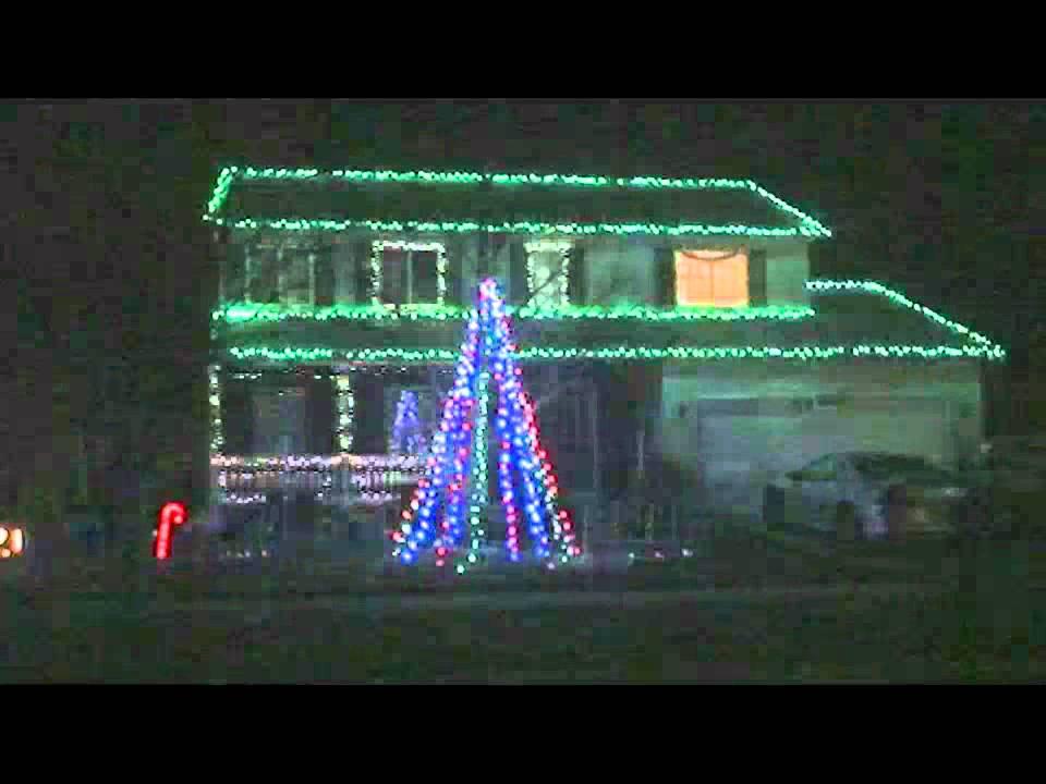 Christmas Light show - Amazing Grace Techno - 2011 - YouTube