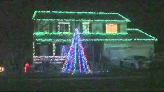Christmas Light show - Amazing Grace Techno - 2011