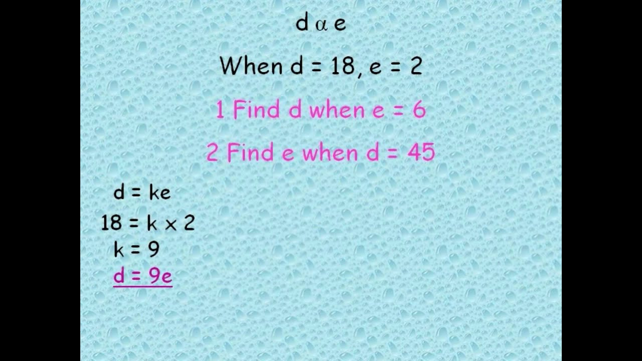 How do you solve an indirect proportion problem in math?