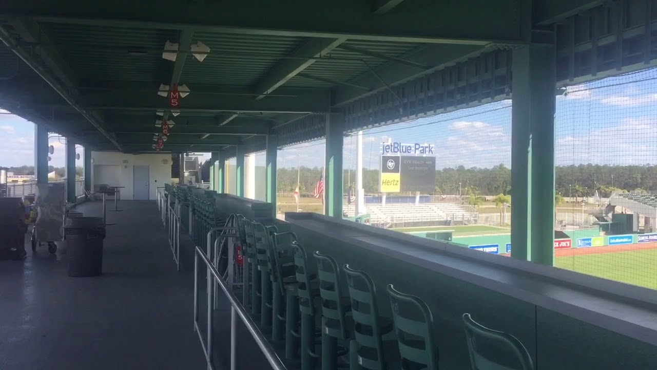 Green Monster at JetBlue Park in Fort Myers (a look at both levels ...