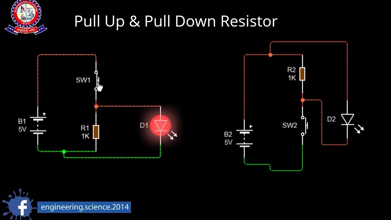 Pull up & Pull down Resistor Animation - YouTube