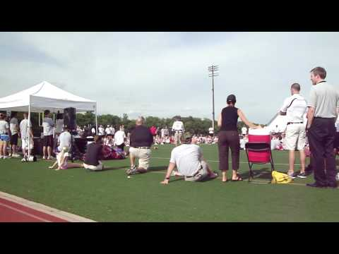 Jim Tressel and Chris Spielman Camp Pep Talk
