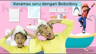 Keramas seru dengan Zwitsal Kids Shampoo dan Boboiboy