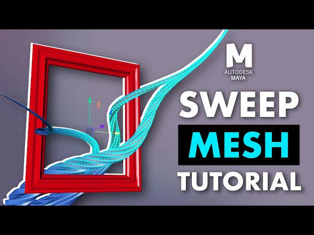 Master Maya Curve Modeling in Maya Using Sweep Mesh