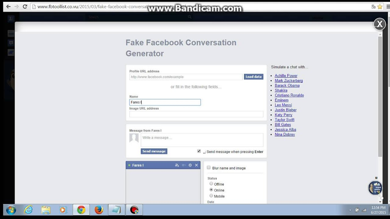 How to make a Fake Facebook conversation Very easy !