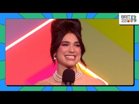 Dua Lipa wins Female Solo Artist   The BRIT Awards 2021