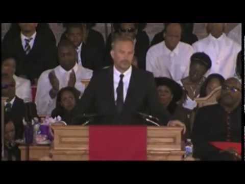 """You're Good Enough!"" - Kevin Costner's Inspiring Speech At Whitney Houston's Funeral [FULL VERSION]"