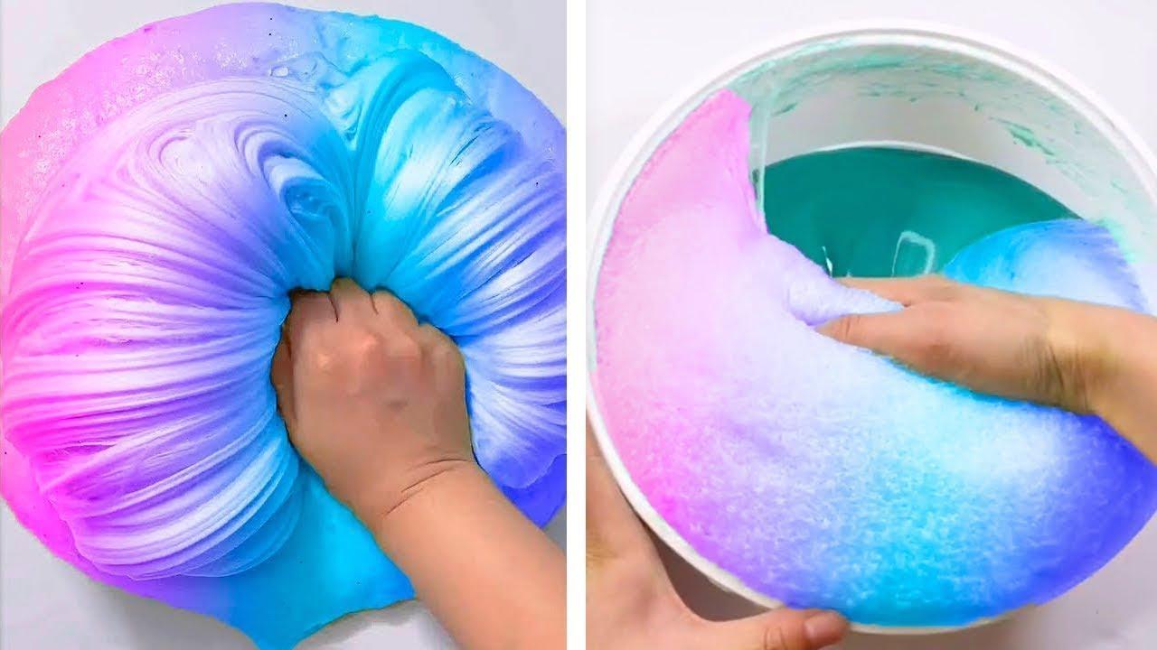Satisfying Slime ASMR   Relaxing Slime Videos # 1297