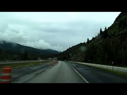 Interstate 90 Across a Rainy Idaho: Wallace, Coeur d