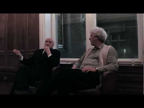 Kevin Roche in discussion with Shane O'Toole