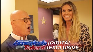 Heidi Klum And Howie Mandel Have A Screaming Match - America's Got Talent 2017 (Extra)