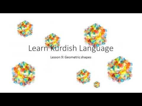 learn kurdish language lesson 9: Geometric Shapes