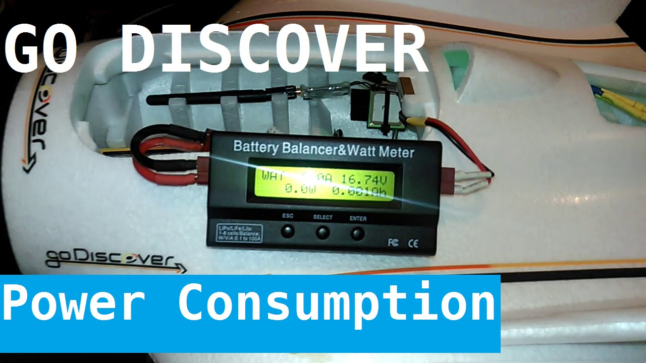 HK Go Discover FPV plane, Power consumption with stock motor ...