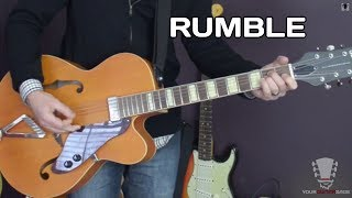 How to play Rumble by Link Wray Guitar Lesson