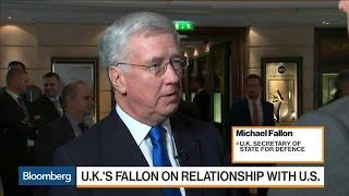 U.K.'s Fallon Seeks Pence's Reassurance on Alliance