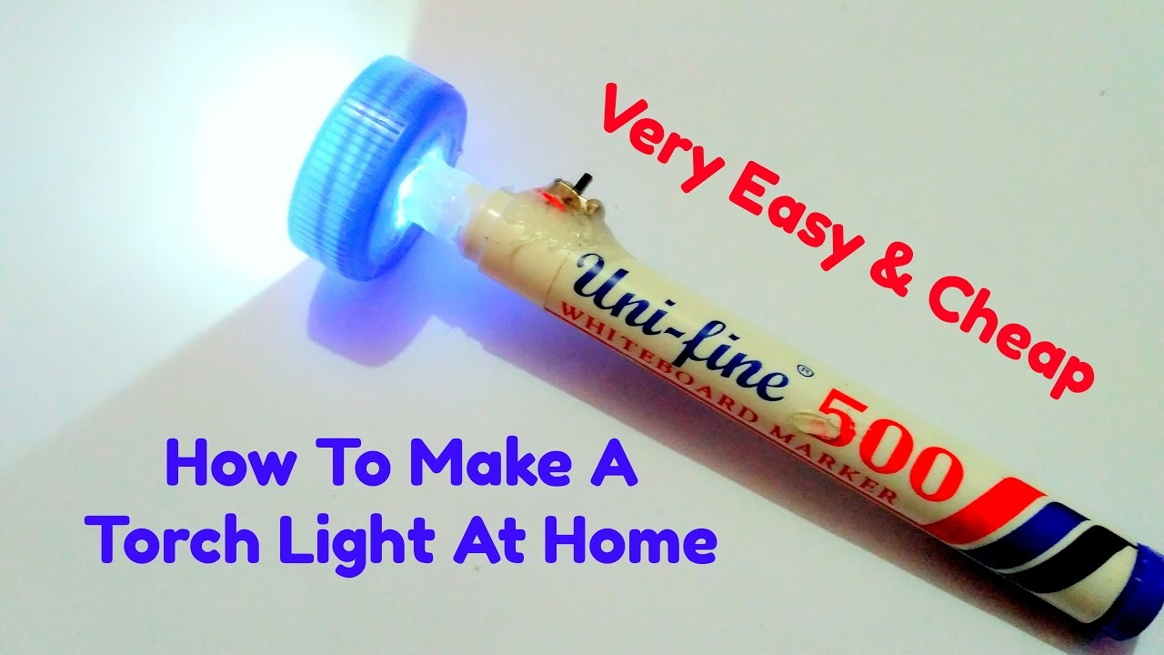 How To Make A Torch Light At Home Youtube