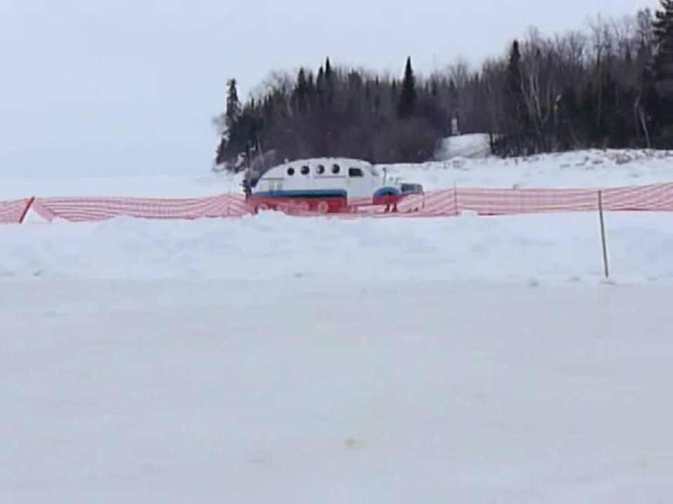 Bombardier on lake winnipeg youtube for Lake winnipeg fishing report
