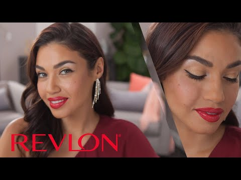 The Metallic Red Lip - The Classic Hollywood Look Revisited Feat. Eman | Revlon
