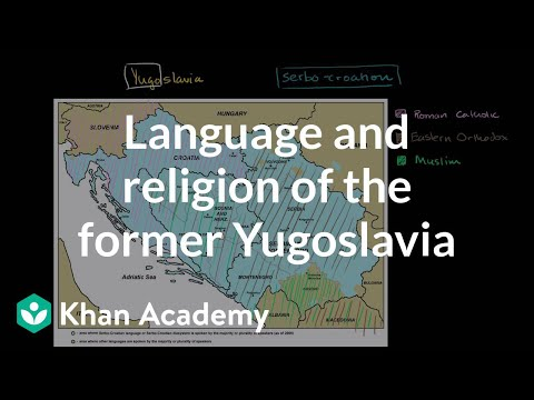 Language and religion of the former Yugoslavia