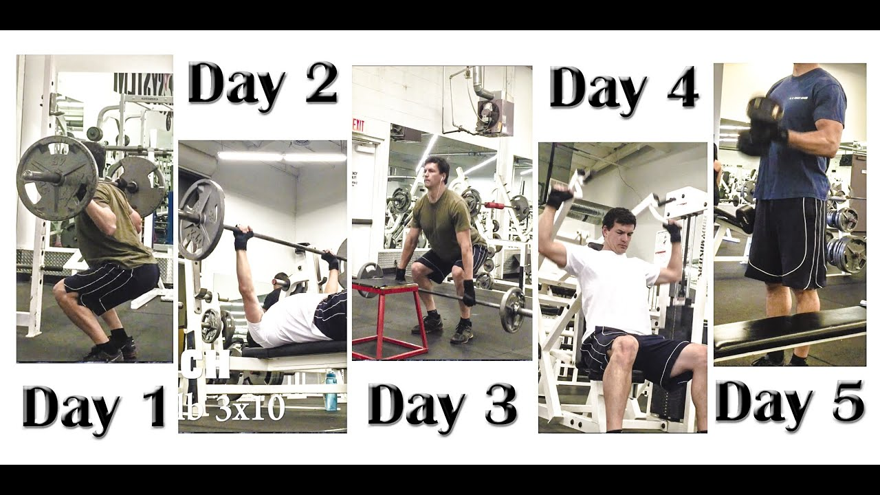 Workout Plan 5 Days
