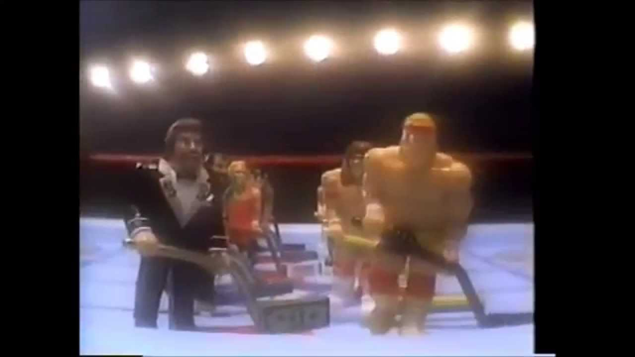 Someone bought this wwf superstars shoot out tabletop hockey game - Wwf Ice Hockey Shootout Toy Commercial 1991 90 S Commercial