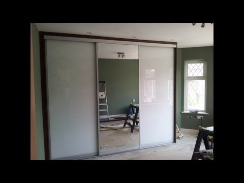 Custom Made Sliding Door Wardrobe | White Glass | Mirror