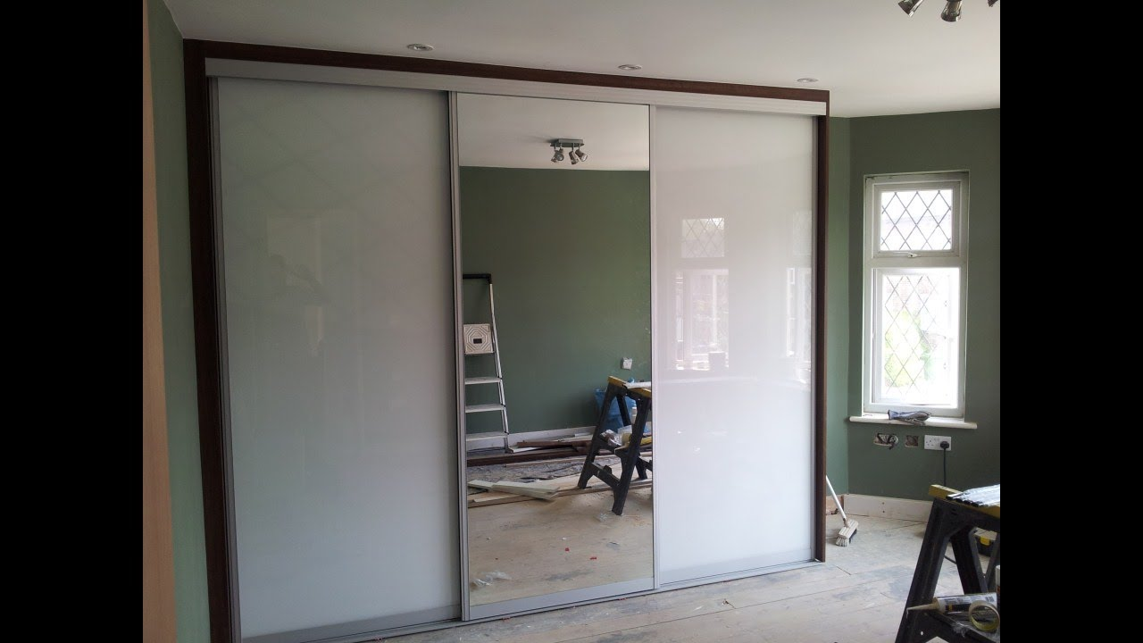 Custom Made Sliding Door Wardrobe White Glass Mirror