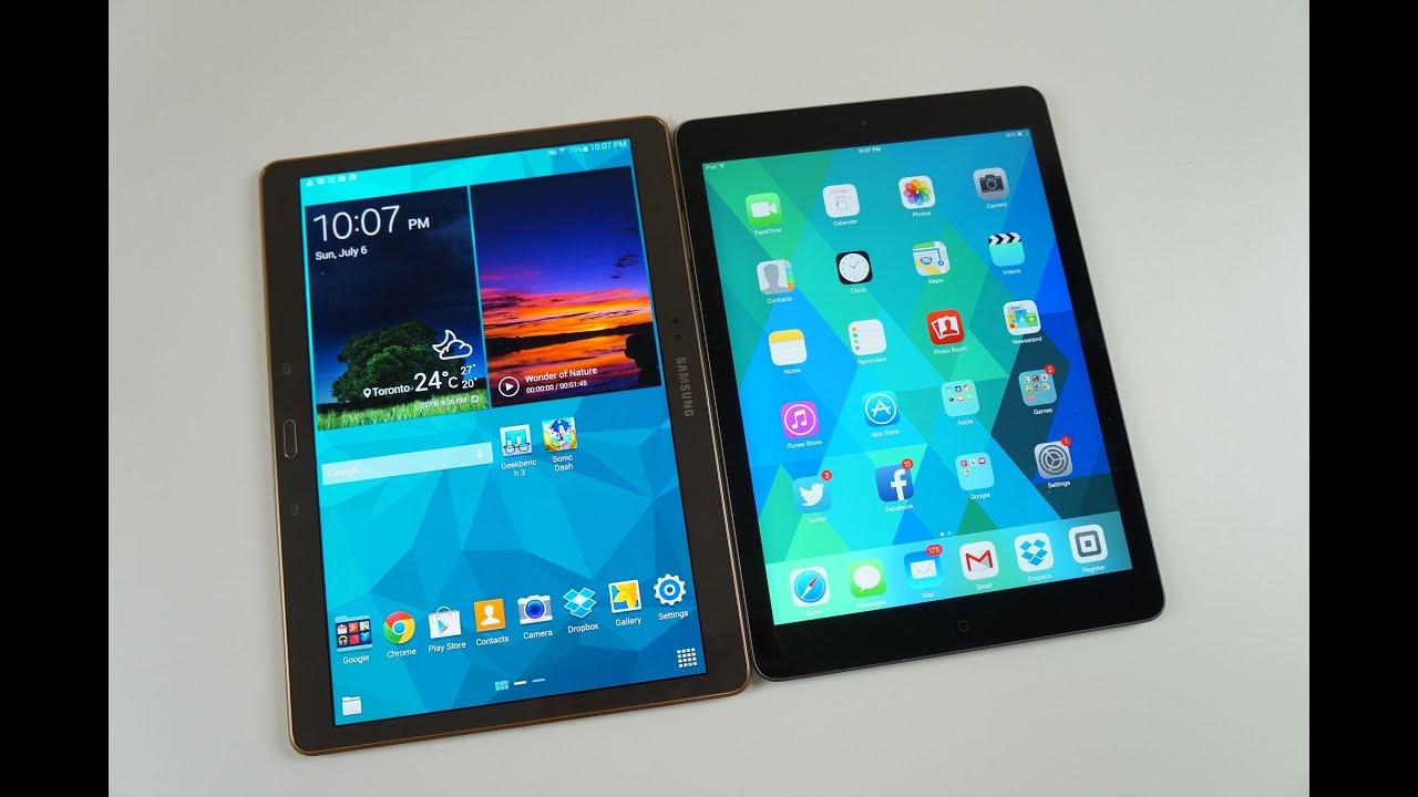 Samsung Galaxy Tab S VS IPad Air SPEED TEST And Comparison