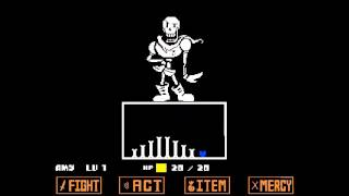 Undertale - Pacifist - Papỳrus fight