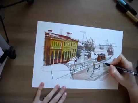Как нарисовать вокзал
