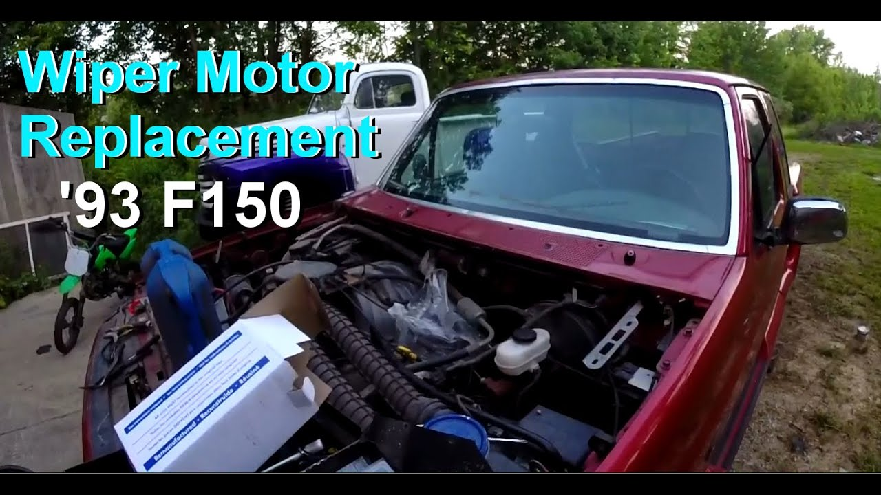 Wiper Motor Replacement 1993 Ford F150 Pickup Youtube Super Duty Wiring Diagram
