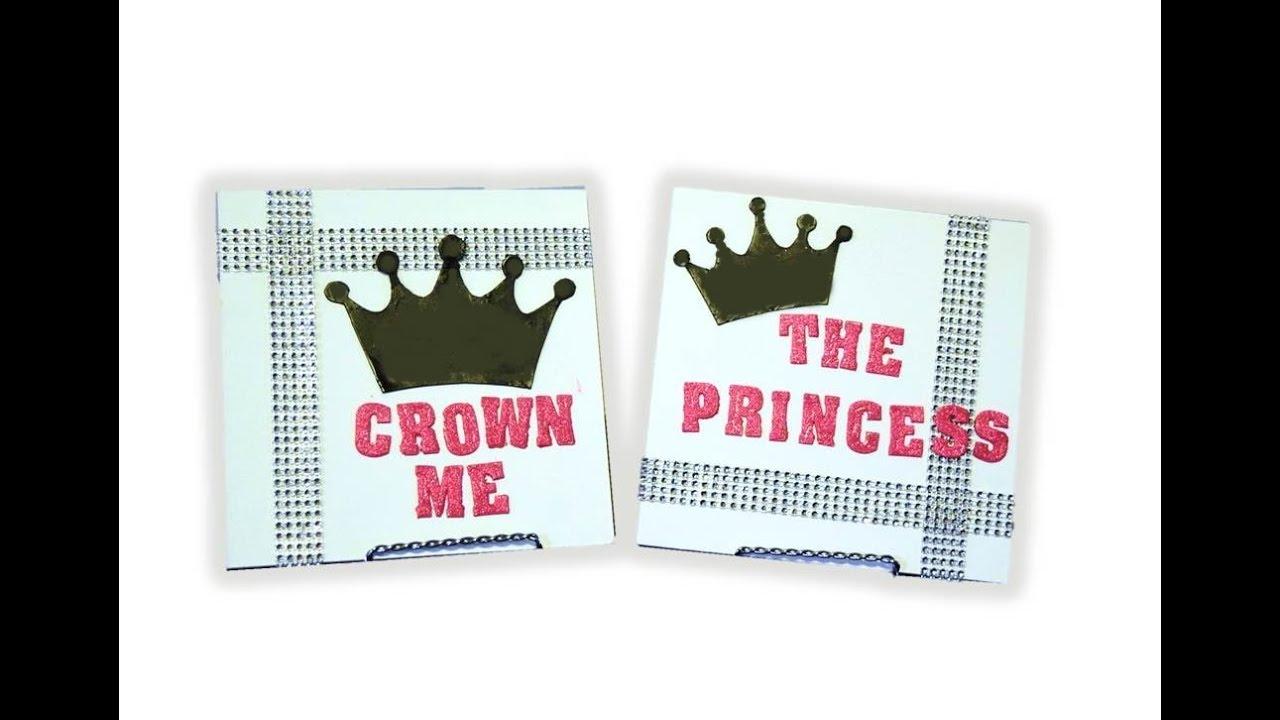 Dollar Tree DIY 4 Bling Custom Signs Wall Decor Party Princess Birthday Series Part 3