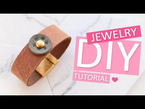 DIY Tutorial – Armband aus DQ Leder mit ImpressArt – Selbst Schmuck machen