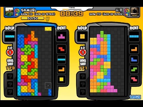 Tetris Battle: Samuel vs 長育 [TW] (10 games) 3rd Nov 2018