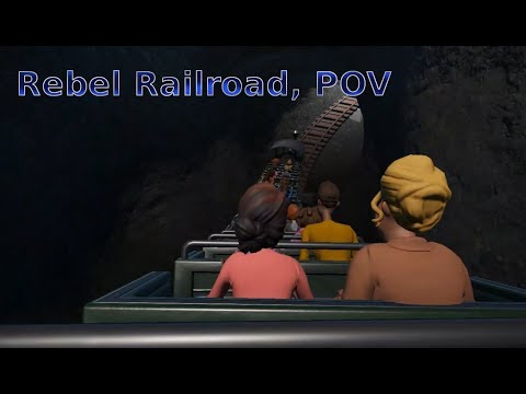 Planet Coaster POV, Rebel Railroad, Night And Day Shots