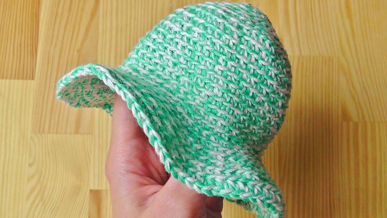 7ca52028d14 Summer hat crochet tutorial - YouTube