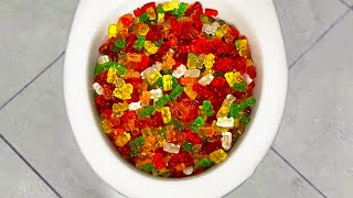 Will 40,000 GUMMY BEARS FLUSH?