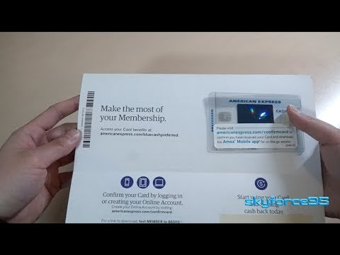 American Express Blue Cash Preferred Card Unboxing