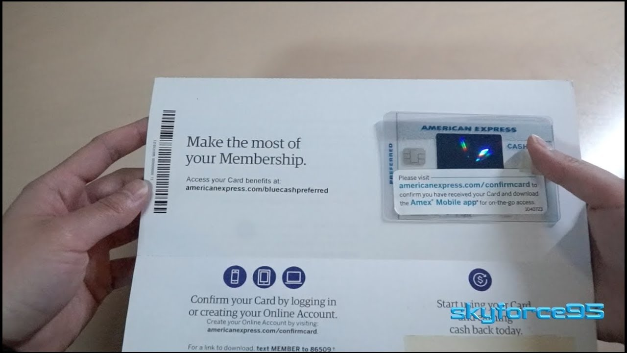 American Express Card >> American Express Blue Cash Preferred Card Unboxing