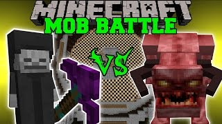 NECROMANCER VS PINKY - Minecraft Mob Battles - Better Dungeons Mod & Lycanite