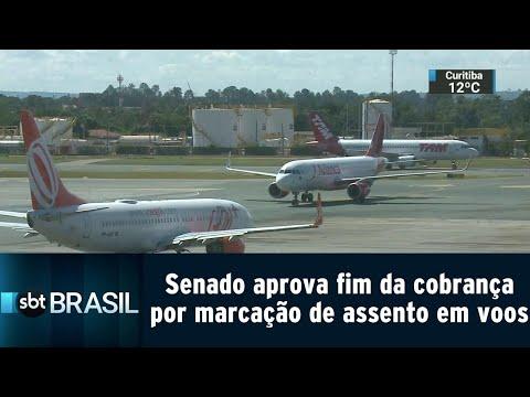 Senado aprova fim da cobrança por marcação de assento em voos nacionais | SBT Brasil (09/08/18)